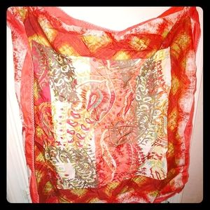 Talbots Silk Exotic Scarf 💋🌹